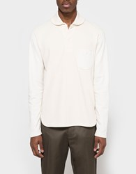 Junya Watanabe Cotton Rib Pile Lining Shirt Natural