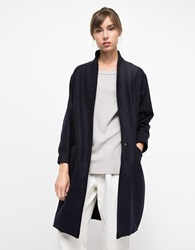 Objects Without Meaning Kimono Coat In Navy