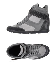Santoni Footwear High Tops And Trainers Women Grey