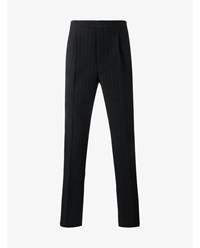 Raf Simons Pinstripe Wool Trousers Navy Blue