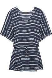 Vix Swimwear Istanbul Printed Voile Coverup Navy