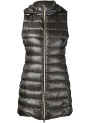 Herno Padded Long Gilet Grey