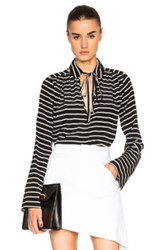 Marissa Webb Abby Top In Black Stripes