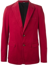 Dolce And Gabbana Fitted Blazer Red