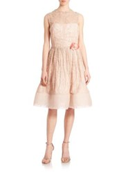 Randi Rahm Gidgette Guipure Lace Dress Antique Rose