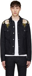 Dolce And Gabbana Blue Embroidered Denim Jacket