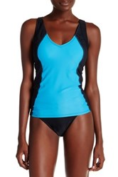Champion Mesh Trim Tankini Blue