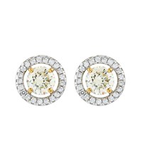 Carat 0.5Ct Round Border Asscher Stud Earrings Female