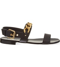 Giuseppe Zanotti Chain Detail Leather Sandals Blk Other