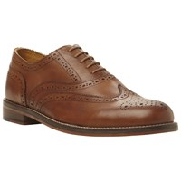 Bertie Braxton Leather Brogue Oxford Shoes Tan