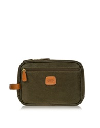 Bric's Life Olive Green Micro Suede Travel Case