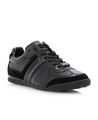 Hugo Boss Aki Wingtip Leather Sneaker Black