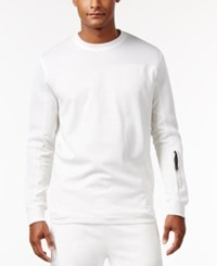 Sean John Men's Spacer Mesh Sweater Cream