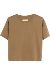 Madewell Cropped Cotton Jersey T Shirt Brown