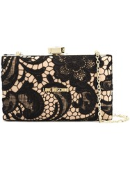Love Moschino Lace Clutch Black