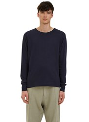 Les Basics Long Sleeved Crew Neck T Shirt Navy