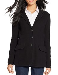 Lauren Ralph Lauren Petite Cotton Sweater Blazer Black