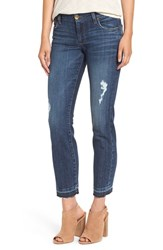 Kut From The Kloth Petite Women's 'Reese' Distressed Stretch Straight Leg Ankle Jeans Capability