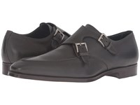 Gravati Double Monk W Apron Toe Grey Men's Monkstrap Shoes Gray