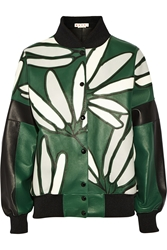 Marni Oversized Leather Bomber Jacket