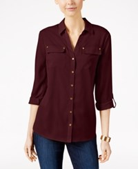 Charter Club Utility Shirt Only At Macy's Cranberry