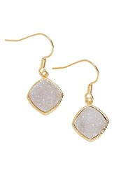 Women's Elise M. 'Phoebe' Square Drusy Drop Earrings Ice