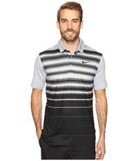 Nike Mobility Fade Stripe Polo Wolf Grey Wolf Grey Anthracite Men's Short Sleeve Pullover Gray