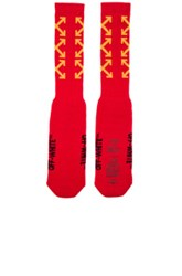 Off White Arrows Socks In Red