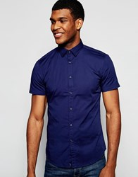 United Colors Of Benetton Short Sleeve Shirt Navy Blue