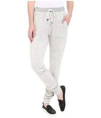 Splendid Mesa Active Mixed Media Pants Paper Women's Casual Pants White