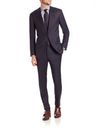 Pal Zileri Two Button Wool Suit Baltico Navy
