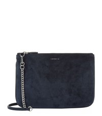 Sandro Addict Suede Cross Body Bag Female Blue