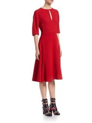 Lanvin Keyhole A Line Dress Red