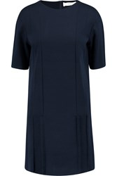 Pringle Pintucked Cotton Pique Mini Dress Blue