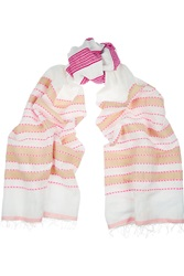 Lemlem Tebteb Striped Cotton Blend Scarf Pink