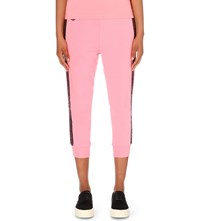 Aape By A Bathing Ape Abstract Print Stretch Cotton Jogging Bottoms Pink