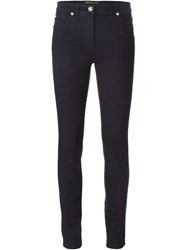 Versace Coated Skinny Jeans Blue