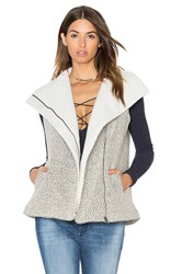 Greylin Melissa Shearling Vest Black And White
