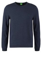 Hugo Boss Green Regular Fit Jumper Dark Blue