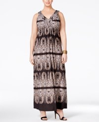 Styleandco. Style Co. Plus Size Printed V Neck Maxi Dress Only At Macy's Seahorse I
