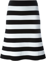 Antonio Marras Striped A Line Skirt Black