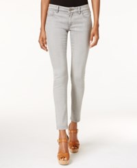 Michael Kors Petite Cropped Silver Wash Skinny Jeans