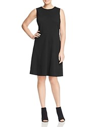Vince Camuto Plus Houndstooth Jacquard Dress Rich Black