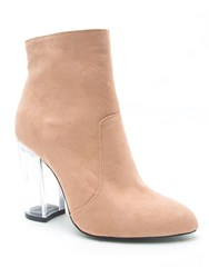 Qupid Ranker Ankle Boot Blush