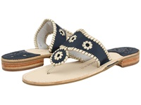 Jack Rogers Palm Beach Navajo Platinum Navy Platinum Women's Sandals Black