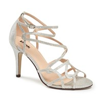 Paradox London Pink Robyn Strappy Heeled Sandals Silver