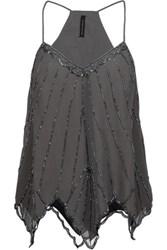 W118 By Walter Baker Avery Sequined Georgette Top Anthracite