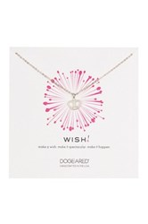 Dogeared Sterling Silver Wish Queen's Crown Necklace Metallic