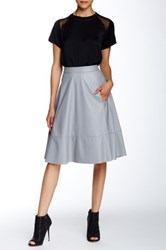 Search For Sanity Faux Leather A Line Midi Skirt Gray