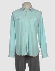 Arnold Zimberg Shirts Long Sleeve Shirts Men Light Green